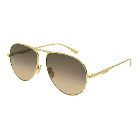 Gucci Male Gg0334s Gold Aviator Sunglasses