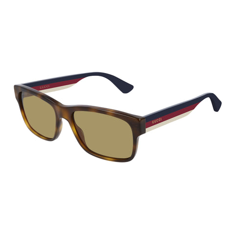 Gucci Male Gg0340s Tort Modern Rectangle Sunglasses