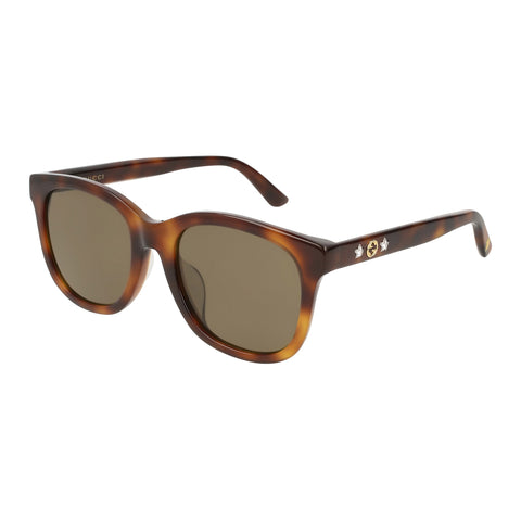 Gucci Female Gg0346sa Tort Modern Rectangle Sunglasses