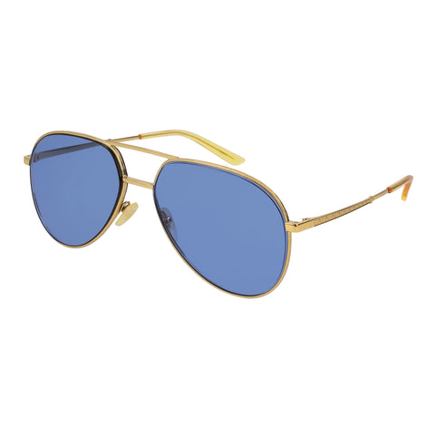 Gucci Uni-sex Gg0356s Gold Aviator Sunglasses