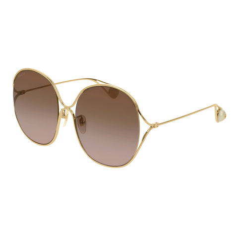 Gucci Female Gg0362s Gold Round Sunglasses