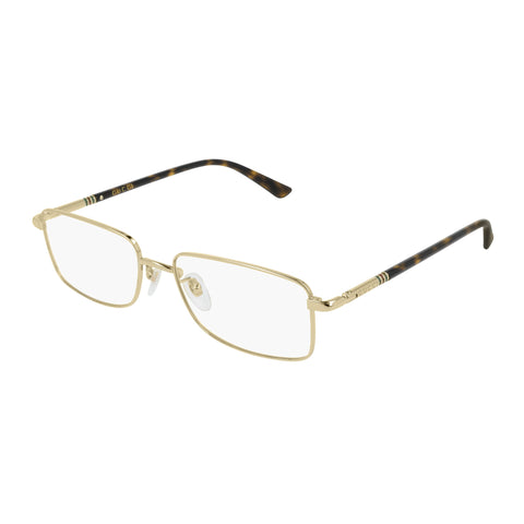 Gucci Male Gg0391o Gold Modern Rectangle Optical Frames