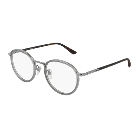 Gucci Uni-sex Gg0393ok Grey Round Optical Frames