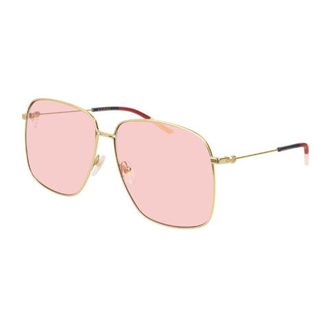 Gucci Female Gg0394s Gold Modern Rectangle Sunglasses
