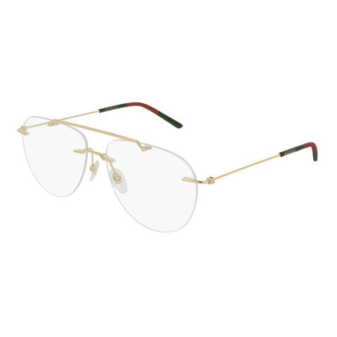Gucci Male Gg0398o Gold Aviator Optical Frames