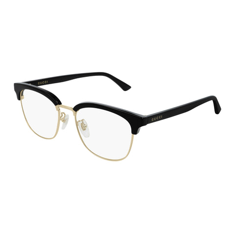 Gucci Uni-sex Gg0409ok Black Modern Rectangle Optical Frames