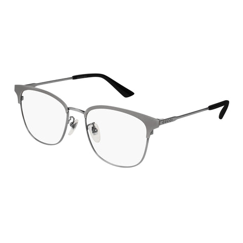 Gucci Uni-sex Gg0413ok Silver Modern Rectangle Optical Frames