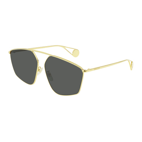 Gucci Female Gg0437sa Gold Modern Rectangle Sunglasses