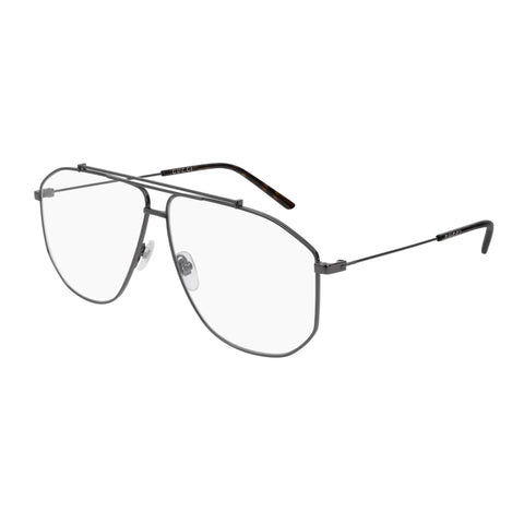 Gucci Male Gg0441o Silver Aviator Optical Frames