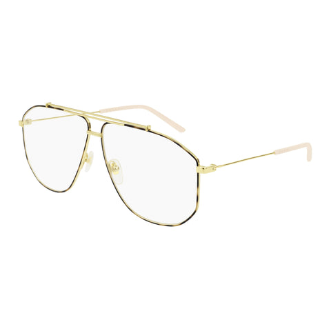 Gucci Male Gg0441o Gold Aviator Optical Frames