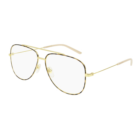 Gucci Male Gg0442o Gold Aviator Optical Frames