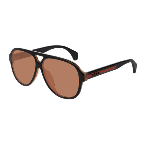 Gucci Male Gg0463sa Black Aviator Sunglasses