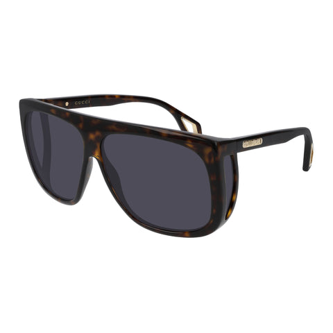Gucci Male Gg0467s Tort Modern Rectangle Sunglasses