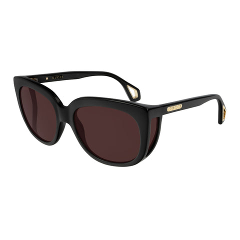 Gucci Female Gg0468s Black Modern Rectangle Sunglasses