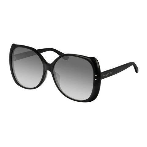 Gucci Female Gg0472sa Black Modern Rectangle Sunglasses