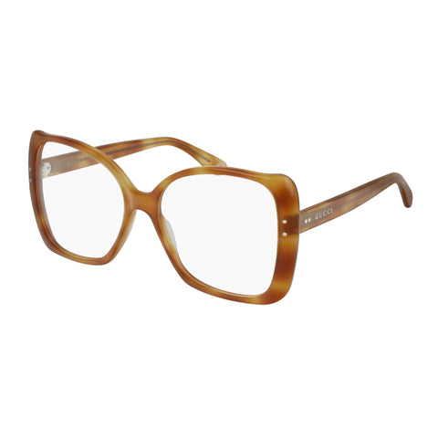 Gucci Female Gg0473o Tort Modern Rectangle Optical Frames