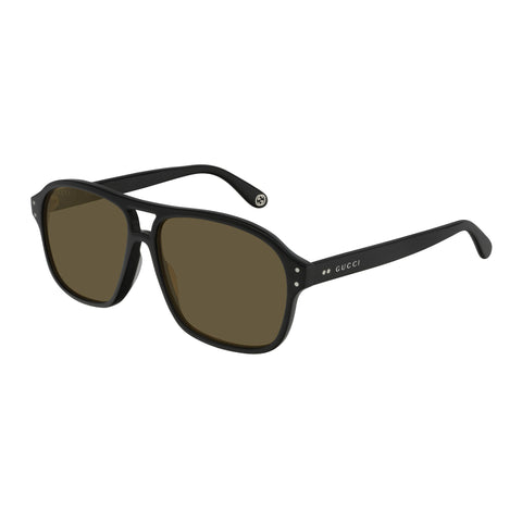Gucci Male Gg0475s Black Modern Rectangle Sunglasses