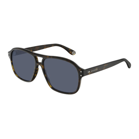 Gucci Male Gg0475s Tort Modern Rectangle Sunglasses