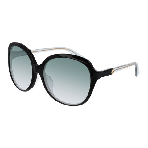 Gucci Female Gg0489sa Black Round Sunglasses