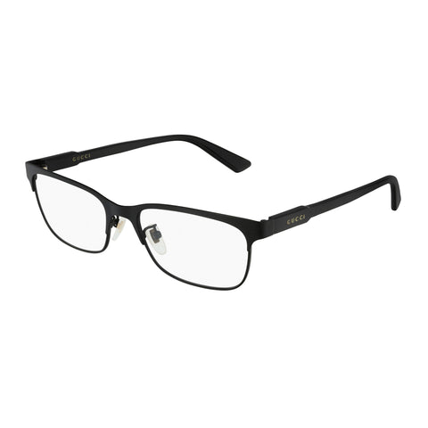 Gucci Uni-sex Gg0494oj Black Modern Rectangle Optical Frames
