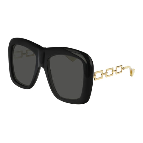 Gucci Uni-sex Gg0499s Black Modern Rectangle Sunglasses