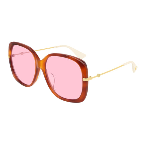 Gucci Female Gg0511sa Tort Modern Rectangle Sunglasses