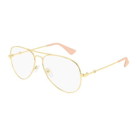 Gucci Male Gg0515o Gold Aviator Optical Frames