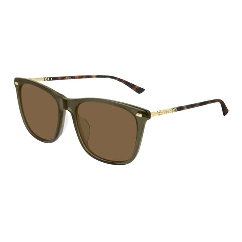 Gucci Uni-sex Gg0518sa Green Modern Rectangle Sunglasses
