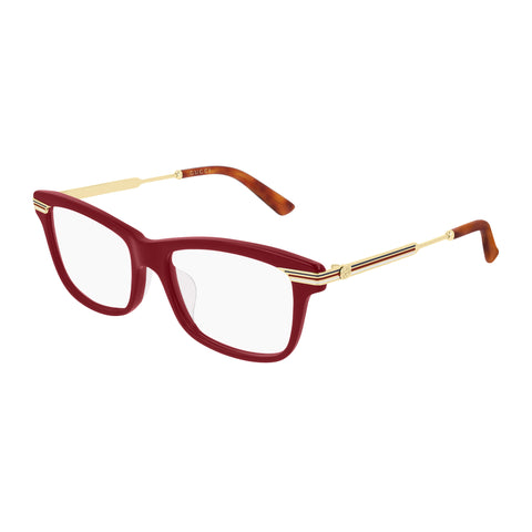 Gucci Female Gg0524o Burgundy Modern Rectangle Optical Frames