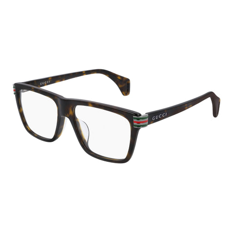 Gucci Male Gg0527o Tort Modern Rectangle Optical Frames