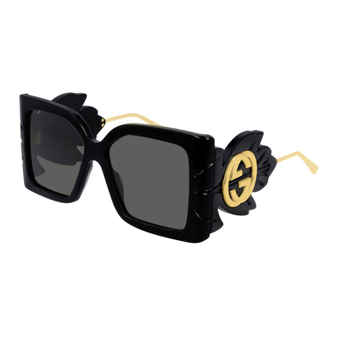 Gucci Female Gg0535s Black Modern Rectangle Sunglasses