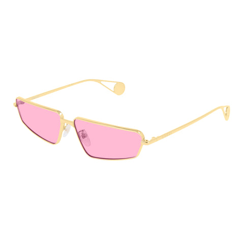 Gucci Female Gg0537s Gold Modern Rectangle Sunglasses