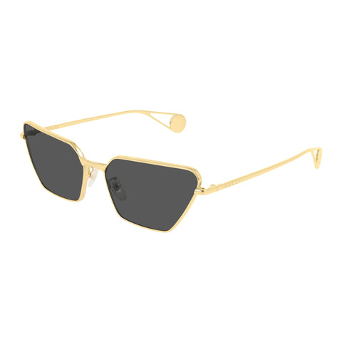 Gucci Female Gg0538s Gold Modern Rectangle Sunglasses