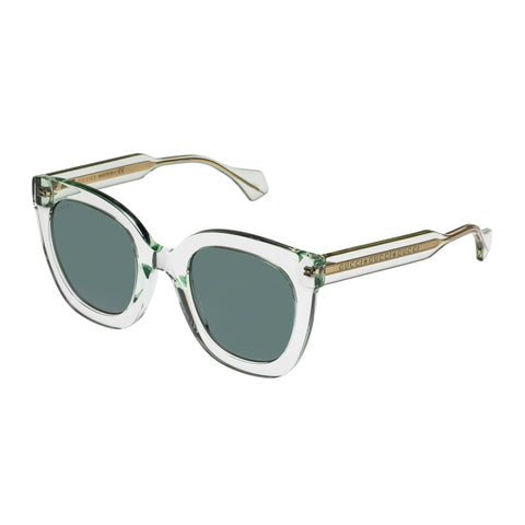 Gucci Female Gg0564s Green Rectangle Sunglasses