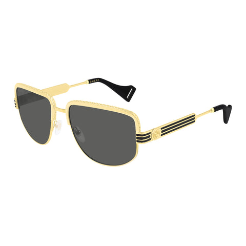 Gucci Male Gg0585s Gold Rectangle Sunglasses