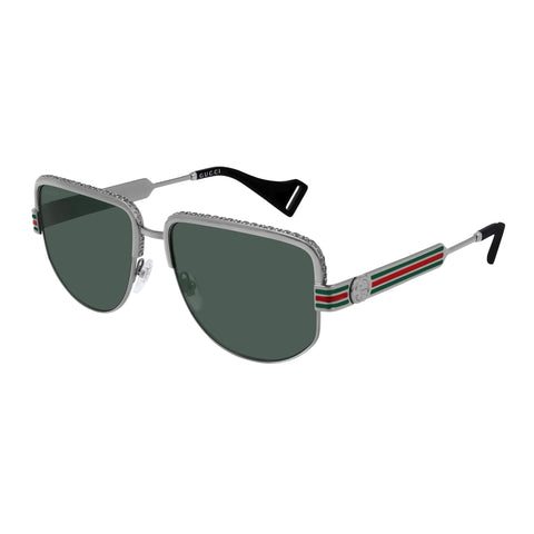 Gucci Male Gg0585s Silver Rectangle Sunglasses