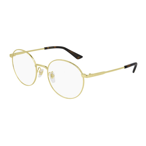 Gucci Male Gg0862oa Gold Round Optical Frames