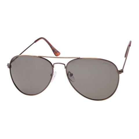 Glarefoil Uni-sex Bentz Gold Aviator Sunglasses