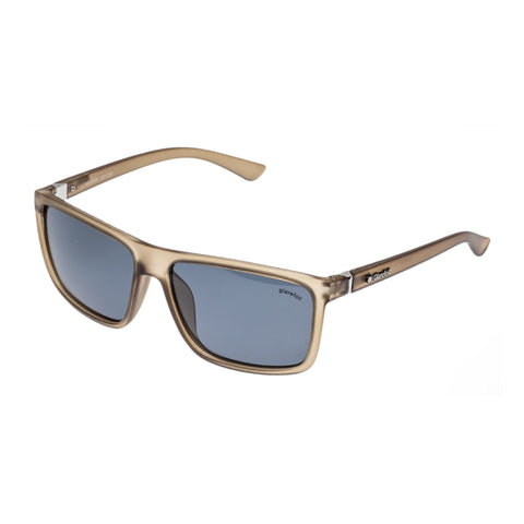 Glarefoil Male Wilson Khaki Modern Rectangle Sunglasses