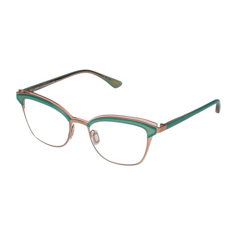 Jono Hennessy Female Modgraff Green Modern Rectangle Optical Frames