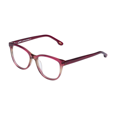 Jono Hennessy Female Mink Red Square Optical Frames