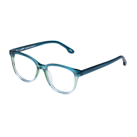 Jono Hennessy Female Mink Turquoise Square Optical Frames