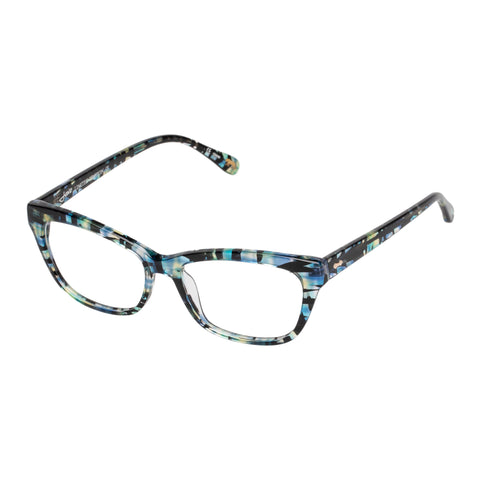 Jono Hennessy Female Rosewood Blue Rectangle Optical Frames