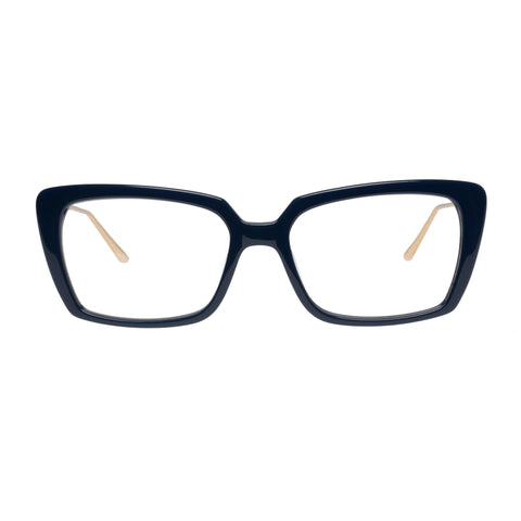 Jono Hennessy Female Wispa Blue Modern Rectangle Optical Frames