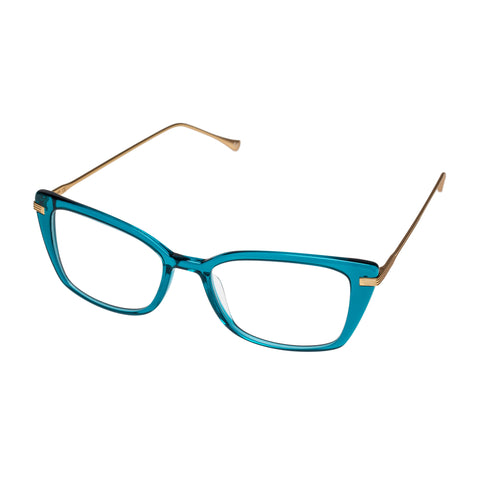 Jono Hennessy Female Banksia Blue Modern Rectangle Optical Frames