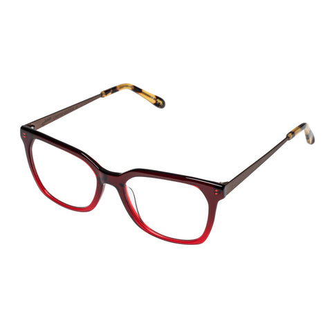 Jono Hennessy Female Smash Red Modern Rectangle Optical Frames