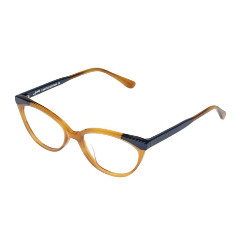 Jono Hennessy Female Fab Tan Cat-eye Optical Frames