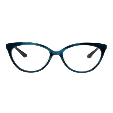 Jono Hennessy Female Fab Blue Horn Cat-eye Optical Frames