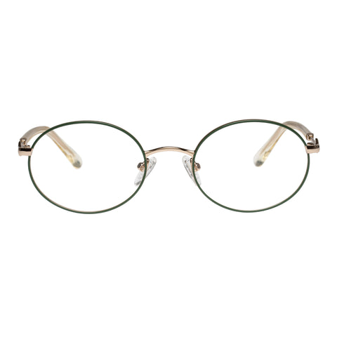 Karen Walker Uni-sex Ada Black Oval Optical Frames