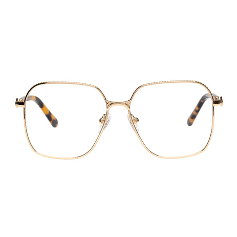 Karen Walker Uni-sex Sedaris Gold Square Optical Frames